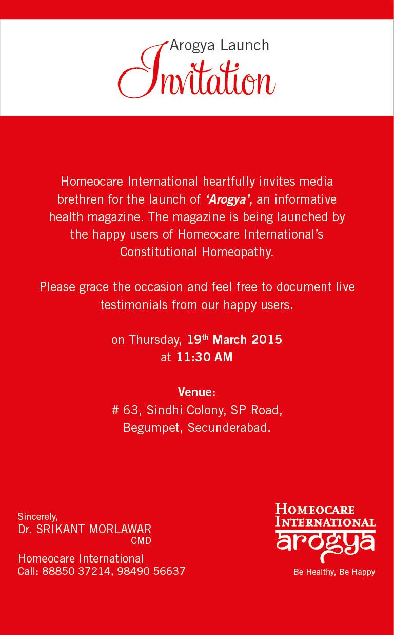 Launch of Arogya Health Magazine