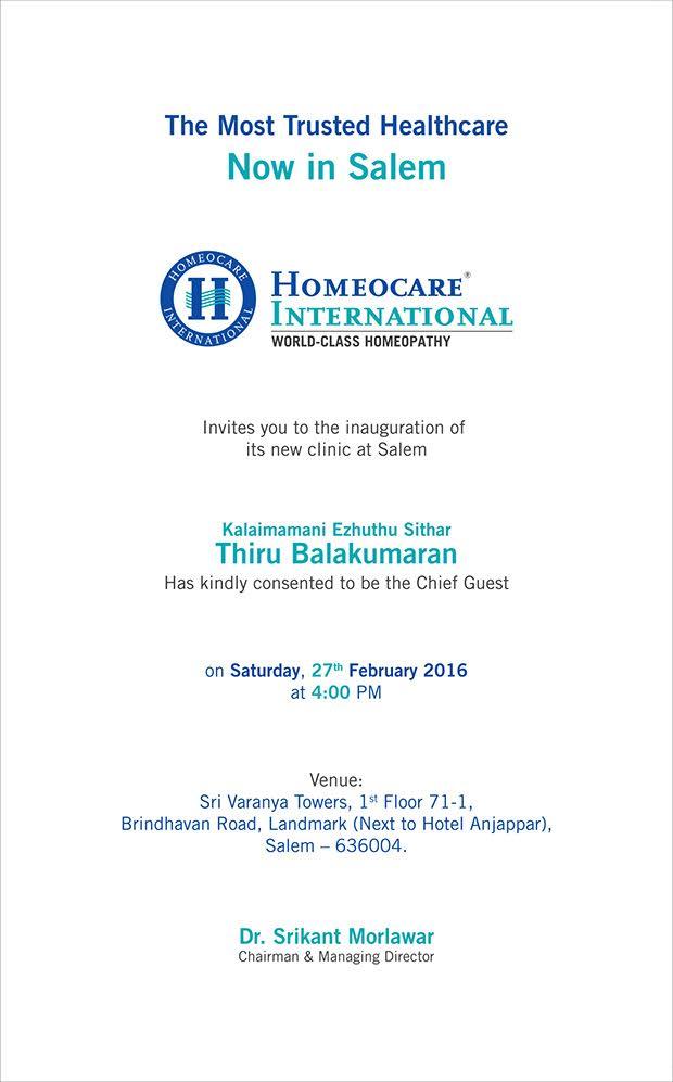 Homeocare International Salem branch