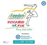 Freedom Hyderabad 10K Run 2016 Organized by Homeocare International