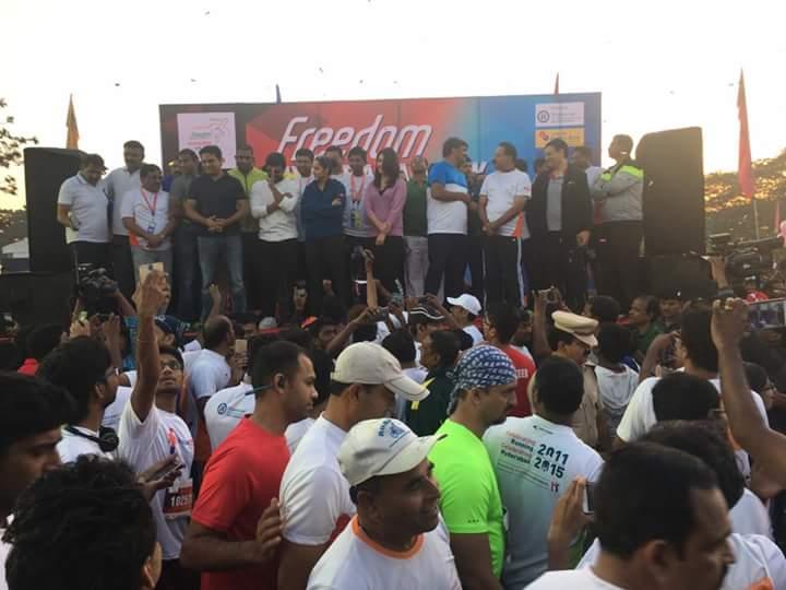 Freedom 10k run in Hyderabad