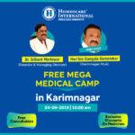 Homeocare International organizes a free medical camp in Karminagar